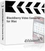 4Videosoft BlackBerry Video Converter for Mac