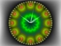 2D Gold Clock Screensaver