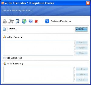 M Fast File Locker 1.0 - Full Version