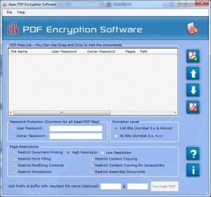 Apex PDF Encryption Software - Full Version