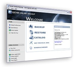 Genie Online Backup - 20 GB - 25 User - Monthly