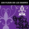 Embellish Fleur de lis Graphic Shapes for Photoshop, PSP etc - Pack 23