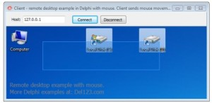 Delphi remote desktop example with mouse Download