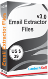 Email Extractor Files v3.0 - Licence for 1 PC