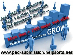 Pad Submission Services Crate XML Pad File with SEO Service