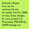 GXStretchedLines / dingbats font (shapes) for Photoshop, PSP, Affinity Photo etc