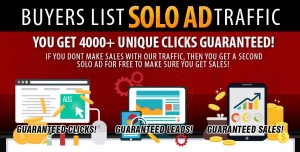 Solo Ad Traffic - Get 4000 Clicks Guaranteed - Sales Guaranteed!