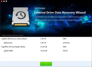 IUWEshare Mac External Drive Data Recovery Wizard