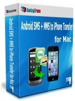 Holiday Deals Backuptrans Android SMS + MMS to iPhone Transfer for Mac (Family Edition)