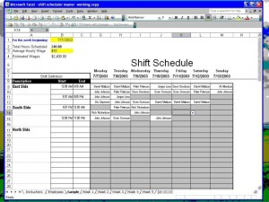 Employee Shift Scheduler for Excel